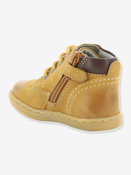 Bottines bébé garçon Tackland KICKERS® à zip Camel+Marron 3 - vertbaudet enfant