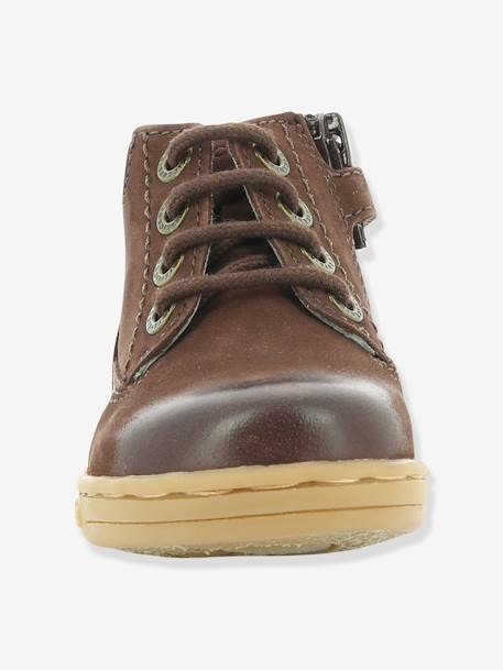 Bottines bébé garçon Tackland KICKERS® à zip Camel+Marron 18 - vertbaudet enfant