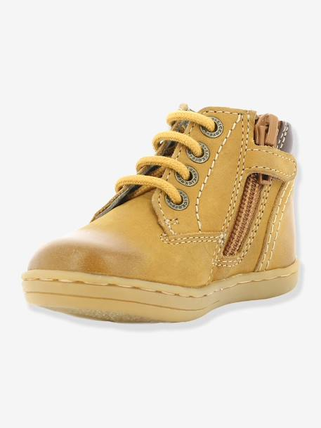 Bottines bébé garçon Tackland KICKERS® à zip Camel+Marron 4 - vertbaudet enfant