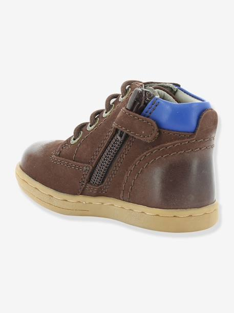Bottines bébé garçon Tackland KICKERS® à zip Camel+Marron 12 - vertbaudet enfant