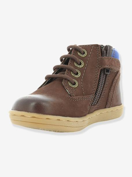 Bottines bébé garçon Tackland KICKERS® à zip Camel+Marron 13 - vertbaudet enfant