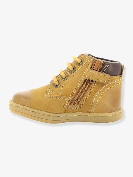 Bottines bébé garçon Tackland KICKERS® à zip Camel+Marron 8 - vertbaudet enfant
