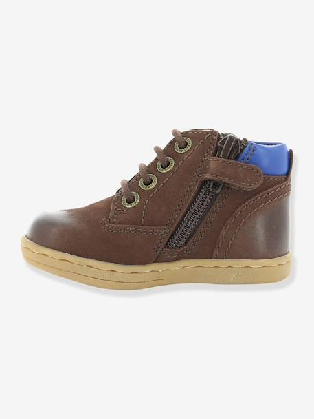 Bottines bébé garçon Tackland KICKERS® à zip Camel+Marron 17 - vertbaudet enfant