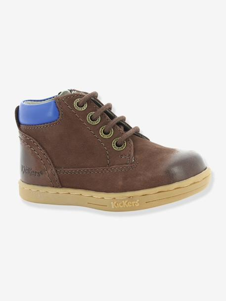 Bottines bébé garçon Tackland KICKERS® à zip Camel+Marron 15 - vertbaudet enfant