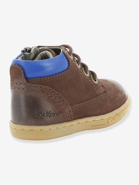 Bottines bébé garçon Tackland KICKERS® à zip Camel+Marron 11 - vertbaudet enfant
