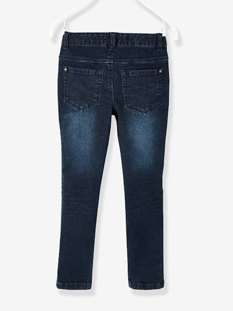 Pantalon skinny fille en denim tour de hanches MEDIUM Denim brut+Denim gris 2 - vertbaudet enfant