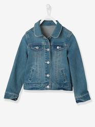 Veste fille en denim stretch  [numero-image] - vertbaudet enfant