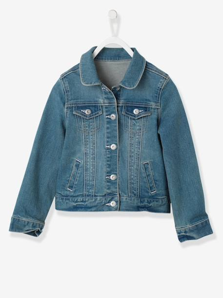 Veste fille en denim stretch Stone 1 - vertbaudet enfant