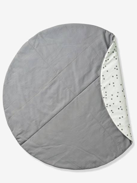 tapis de sol rond pour tipi blanc moutarde imprim vertbaudet. Black Bedroom Furniture Sets. Home Design Ideas