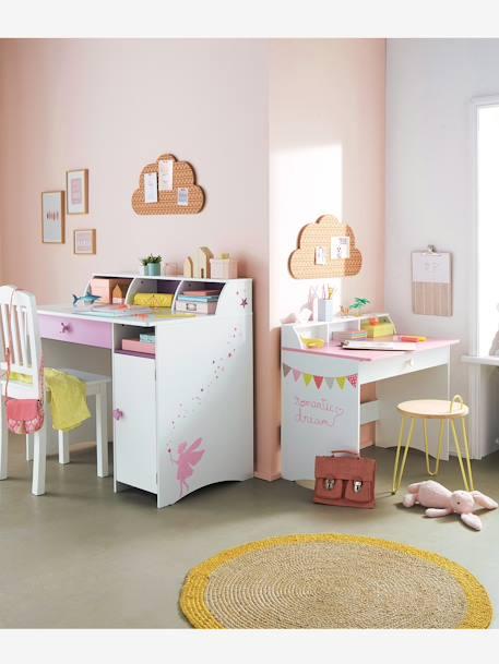 bureau sp cial primaire petite fee blanc violet vertbaudet. Black Bedroom Furniture Sets. Home Design Ideas