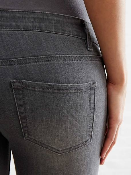 Jean slim stretch de grossesse entrejambe 78 Denim gris+Denim gris clair+Denim noir+Double stone 6 - vertbaudet enfant