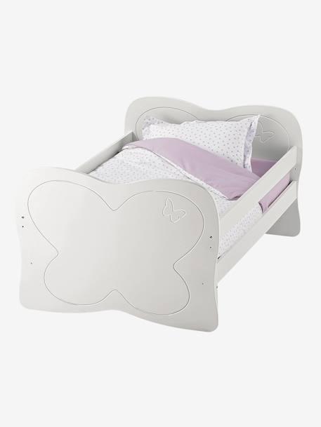 lit volutif enfant ligne papillon laque blanc vertbaudet. Black Bedroom Furniture Sets. Home Design Ideas