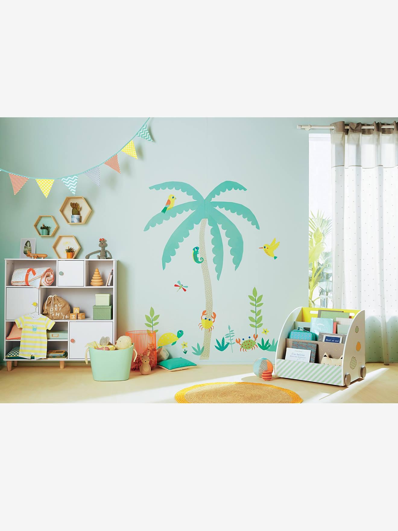 Sticker géant enfant le palmier multicolore Vertbaudet