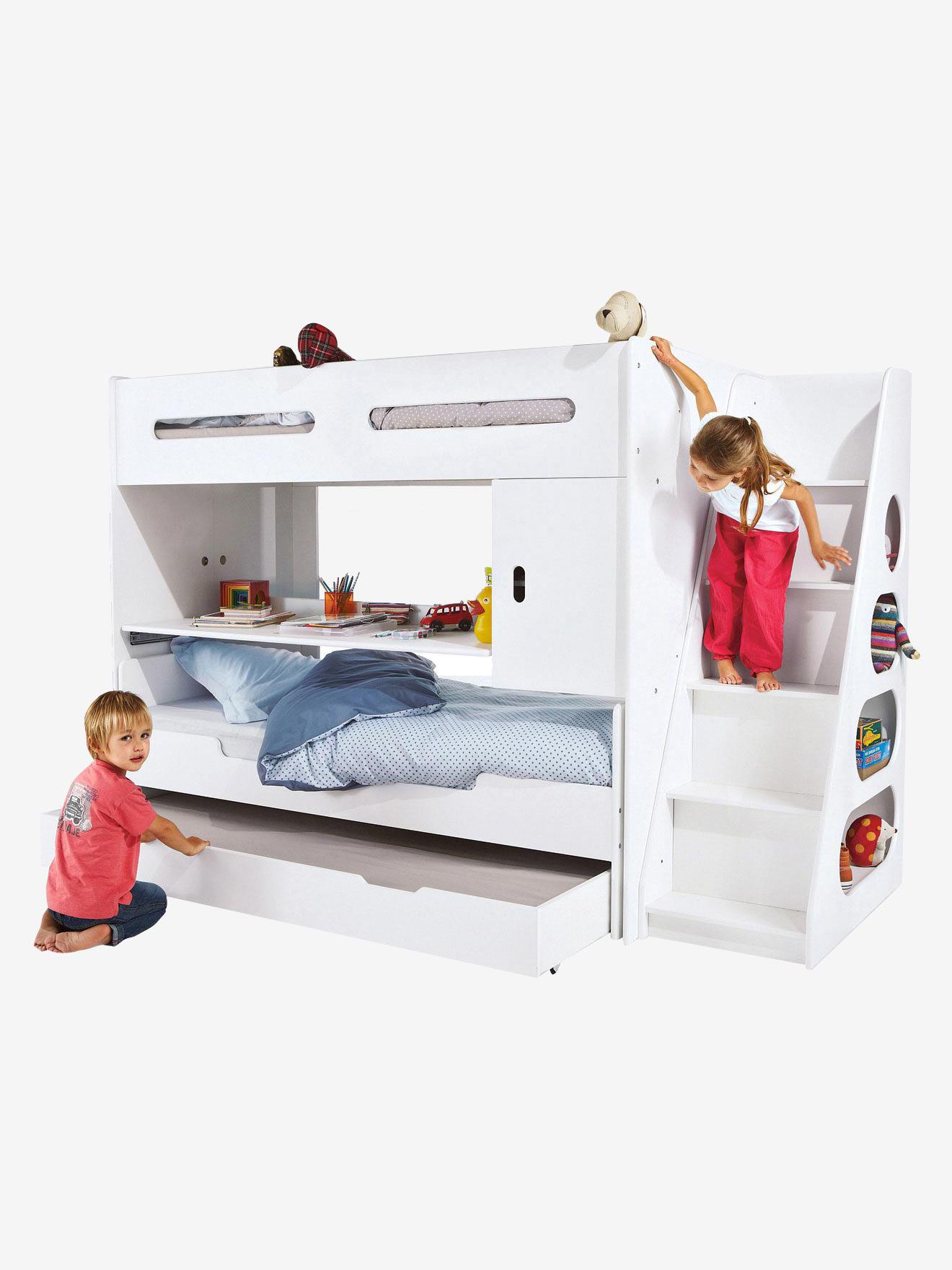 Lit Mezzanine Enfant Pour Combine Evolutif Combibed Blanc Vertbaudet
