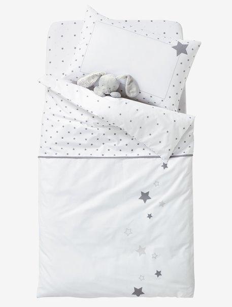 2x Spacesaver lit bébé drap bébé Deluxe 100/% coton 100x52cm 2x étoiles blanches