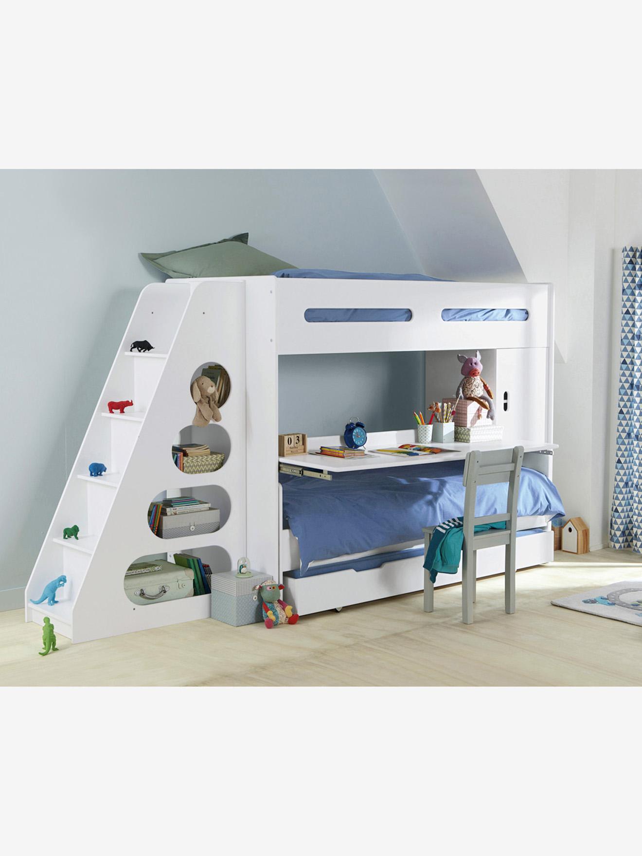 Escalier Avec Rangement Pour Combine Evolutif Combibed Blanc Vertbaudet