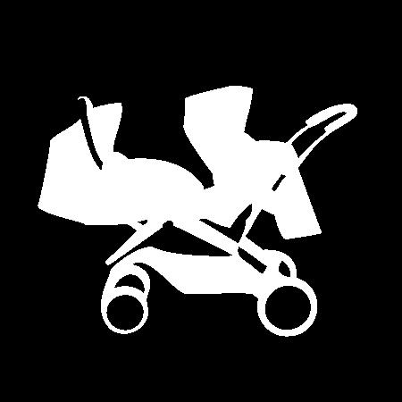 Pictogramme poussette Multiplace