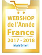 Webshop de l'année 2017 2018 Mode Enfant