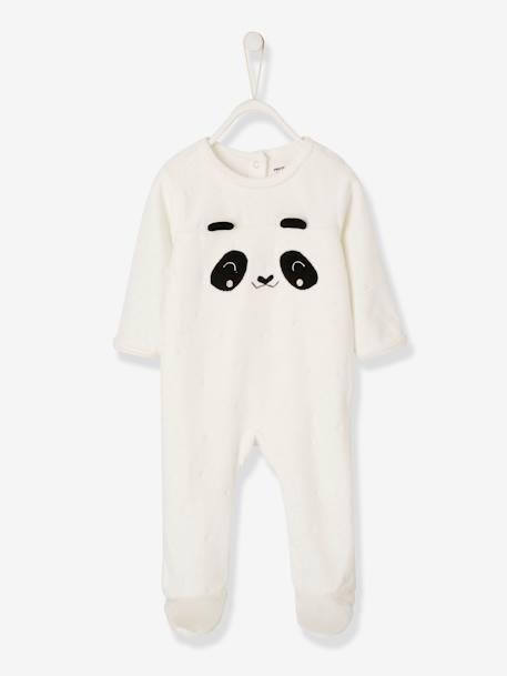 pyjama bebe en velours pressionne dos