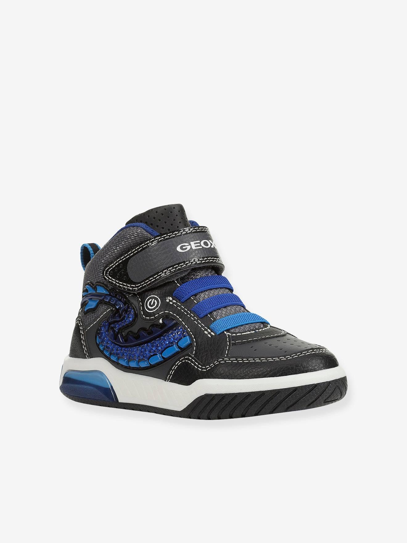 baskets geox garçon bleu lumineuse
