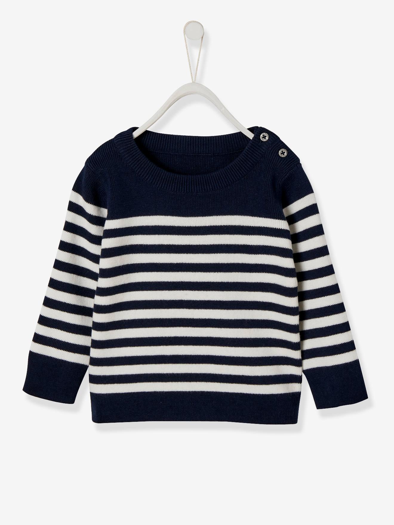 Pull marinière bébé garçon encre rayé