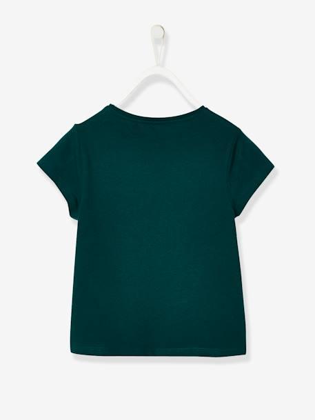 144c21188 T-shirt fille à message rigolo vert foncé - Vertbaudet