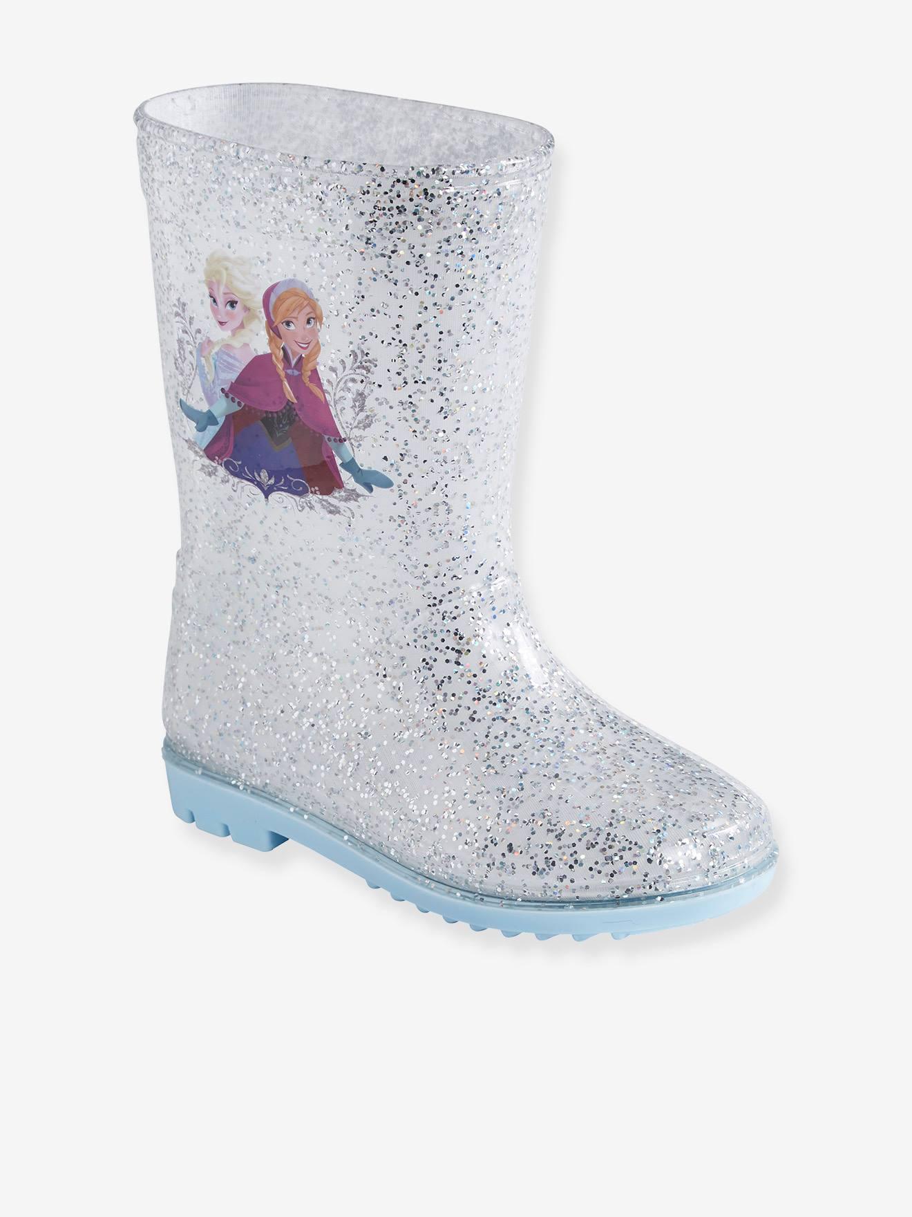 Bottes de pluie fille Disney Reine des neiges® à paillettes blanc pailleté gris argent