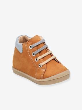 Bottillons sneakers cuir bébé garçon Fidji Babybotte® camel