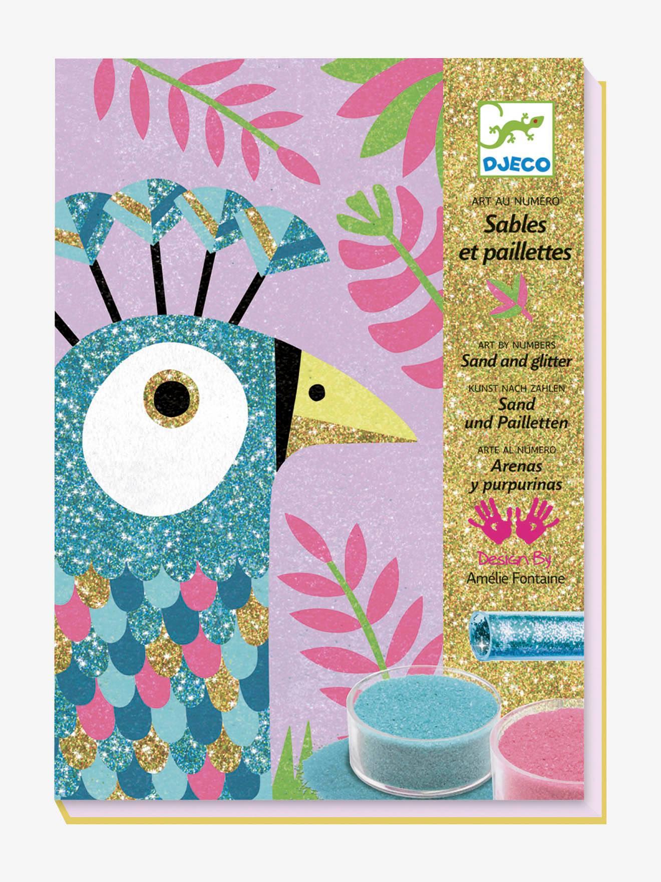 Atelier Sables colorés Eblouissants Oiseaux multicolore
