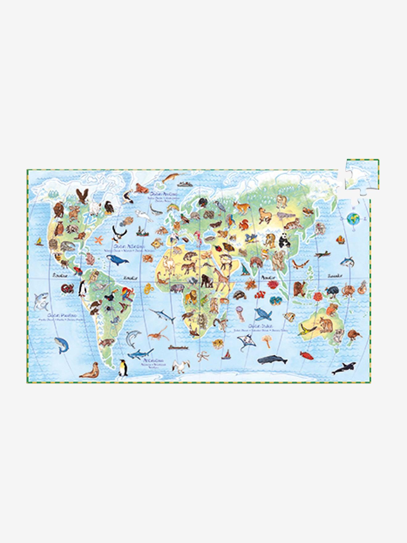 Puzzle 100 pièces Les animaux du monde DJECO multicolore
