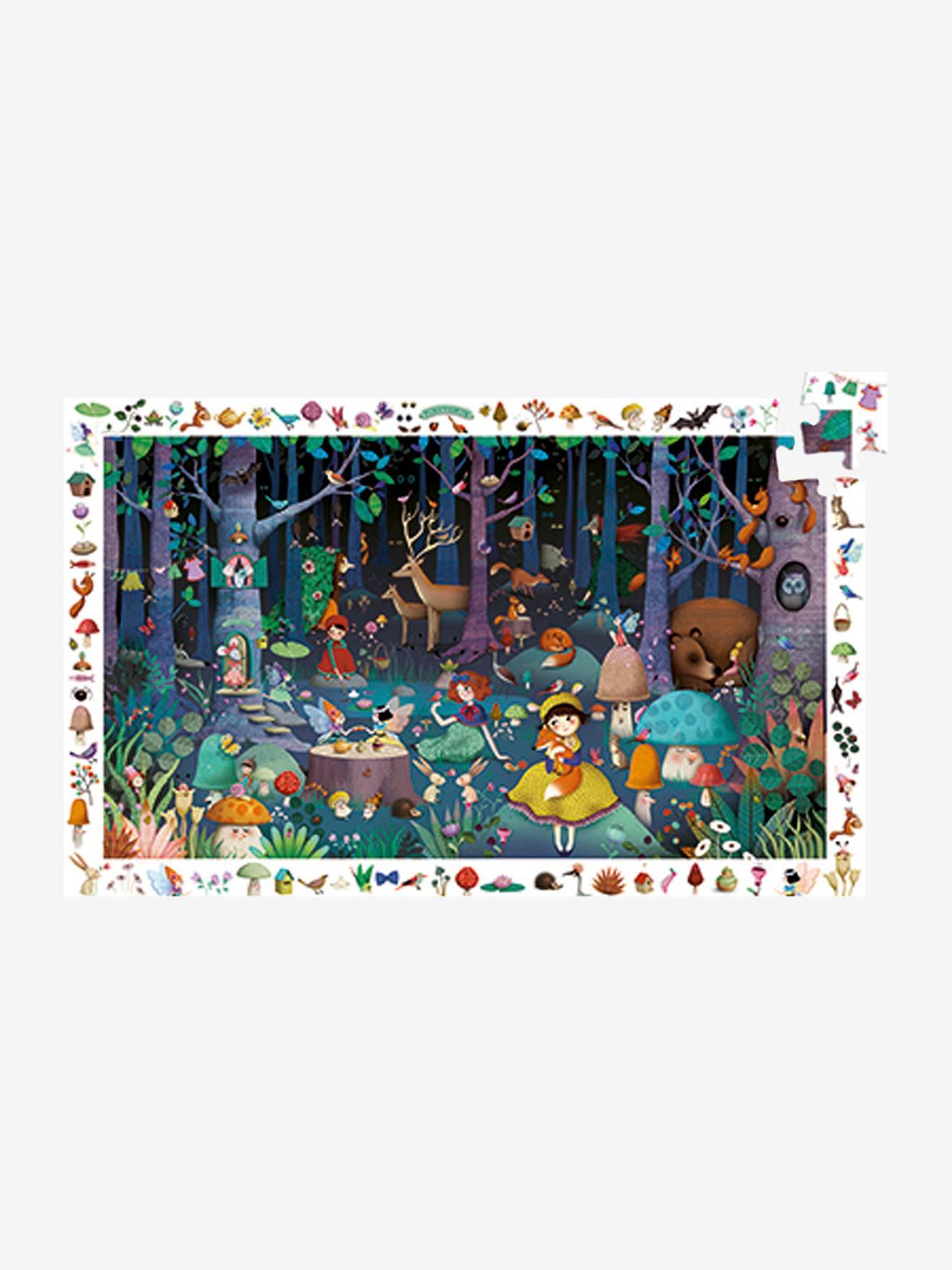 Puzzle 100 pièces La forêt enchantée DJECO multicolore