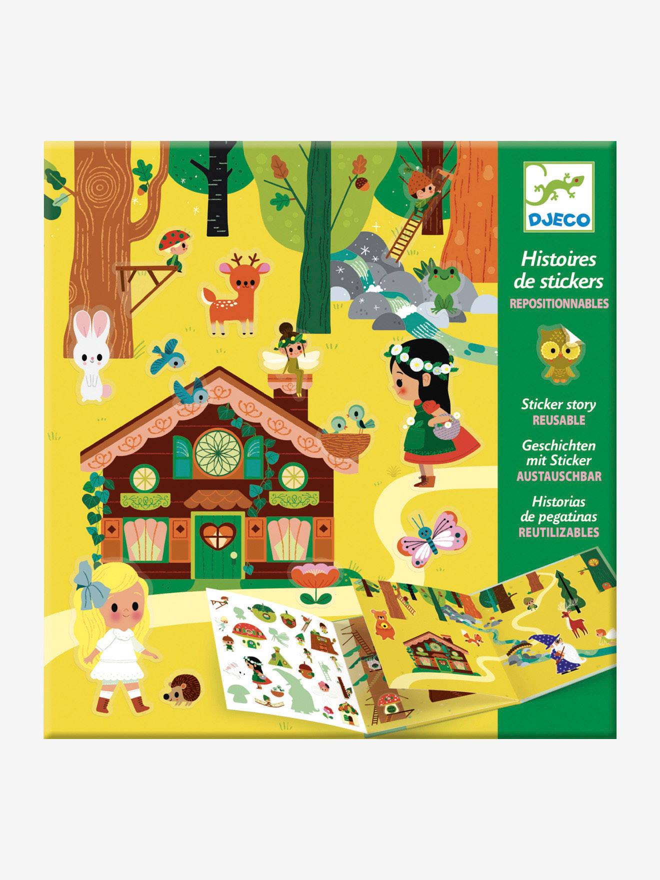 Stickers repositionnables La forêt magique DJECO multicolore