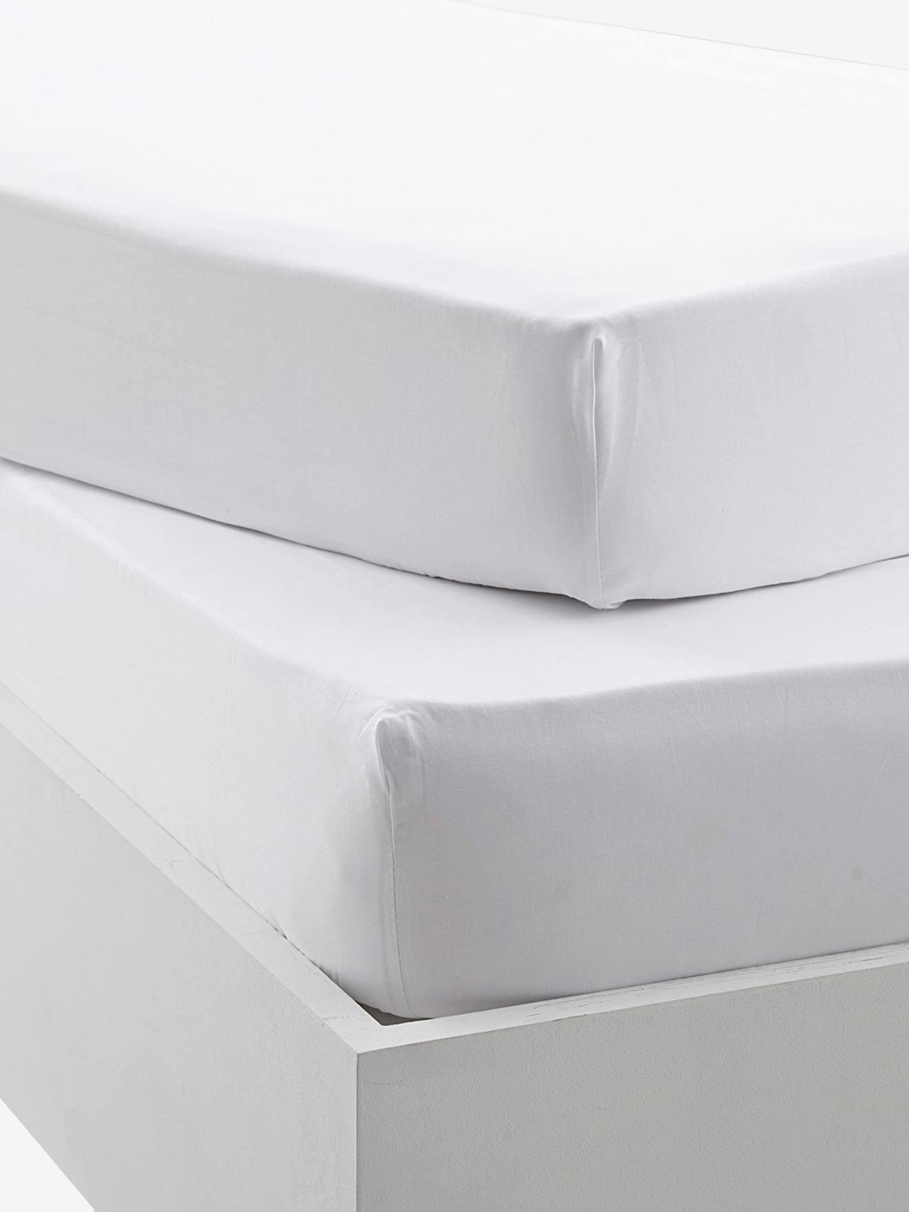 Lot de 3 Draps housse Coton Bio pour lit berceau 40x80-2 coloris disponibles Blanc