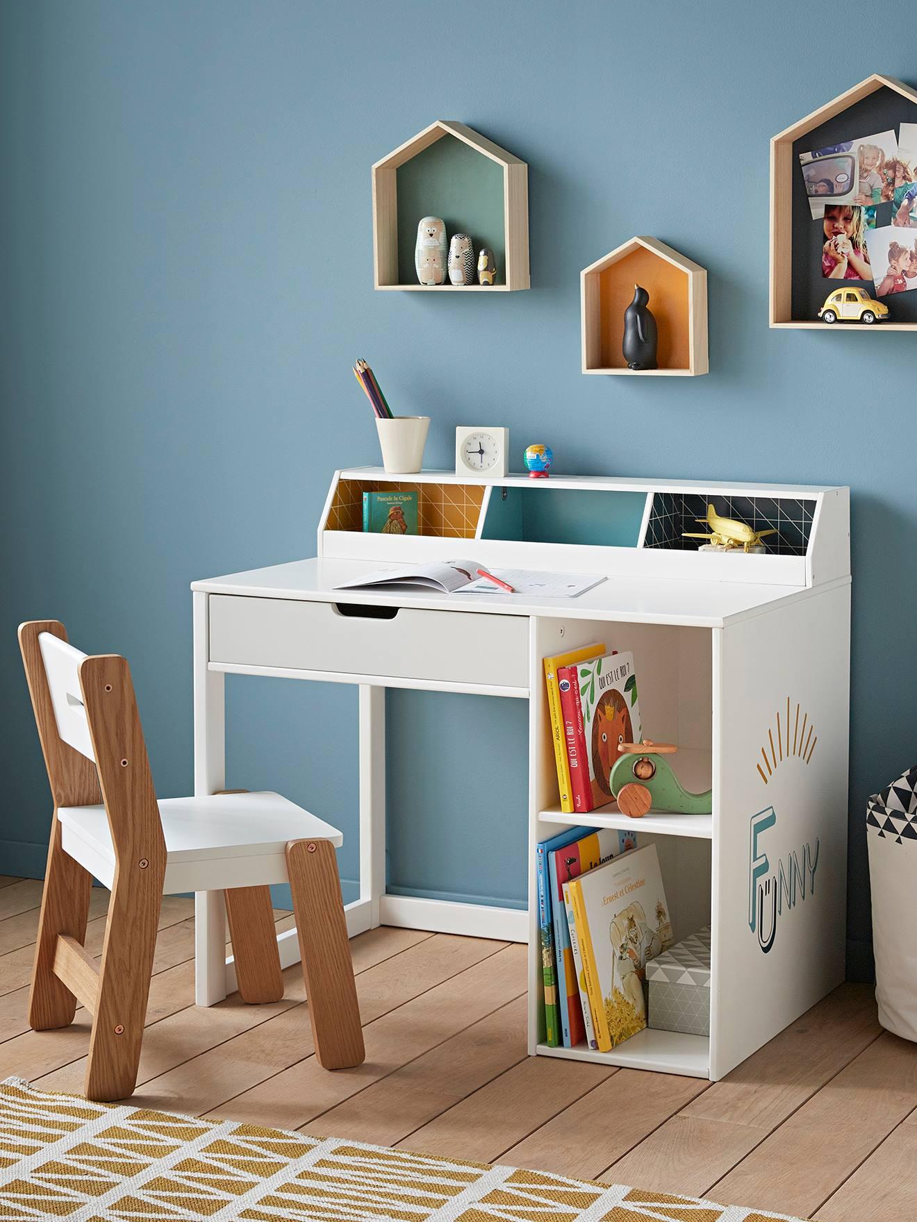 Bureau maternelle LIGNE FUNNY bleu