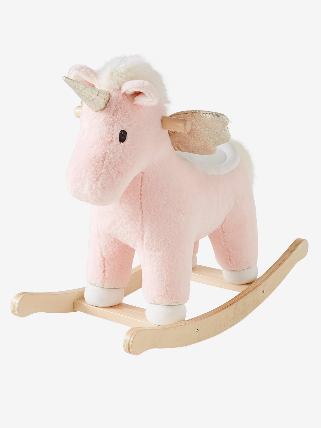 Licorne à bascule rose - Vertbaudet