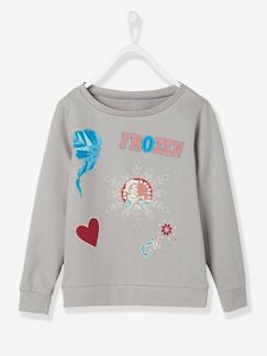 Fille-Sweat-Sweat-shirt fille Reine des Neiges® motifs badges