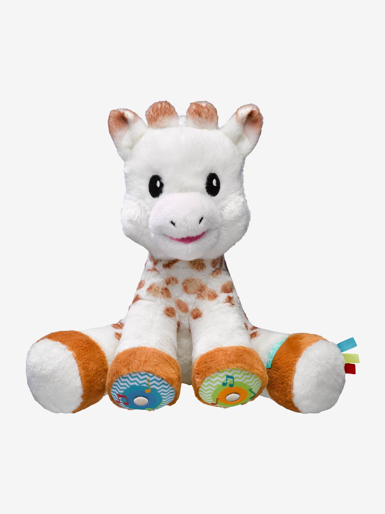 Peluche Sophie la girafe touch and music VULLI blanc