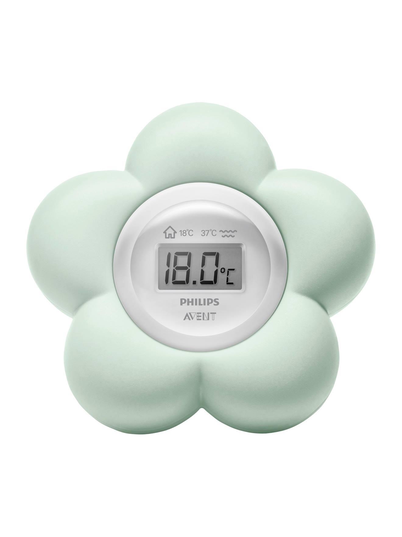 Thermomètre numérique 2 en 1 Philips AVENT forme fleur vert