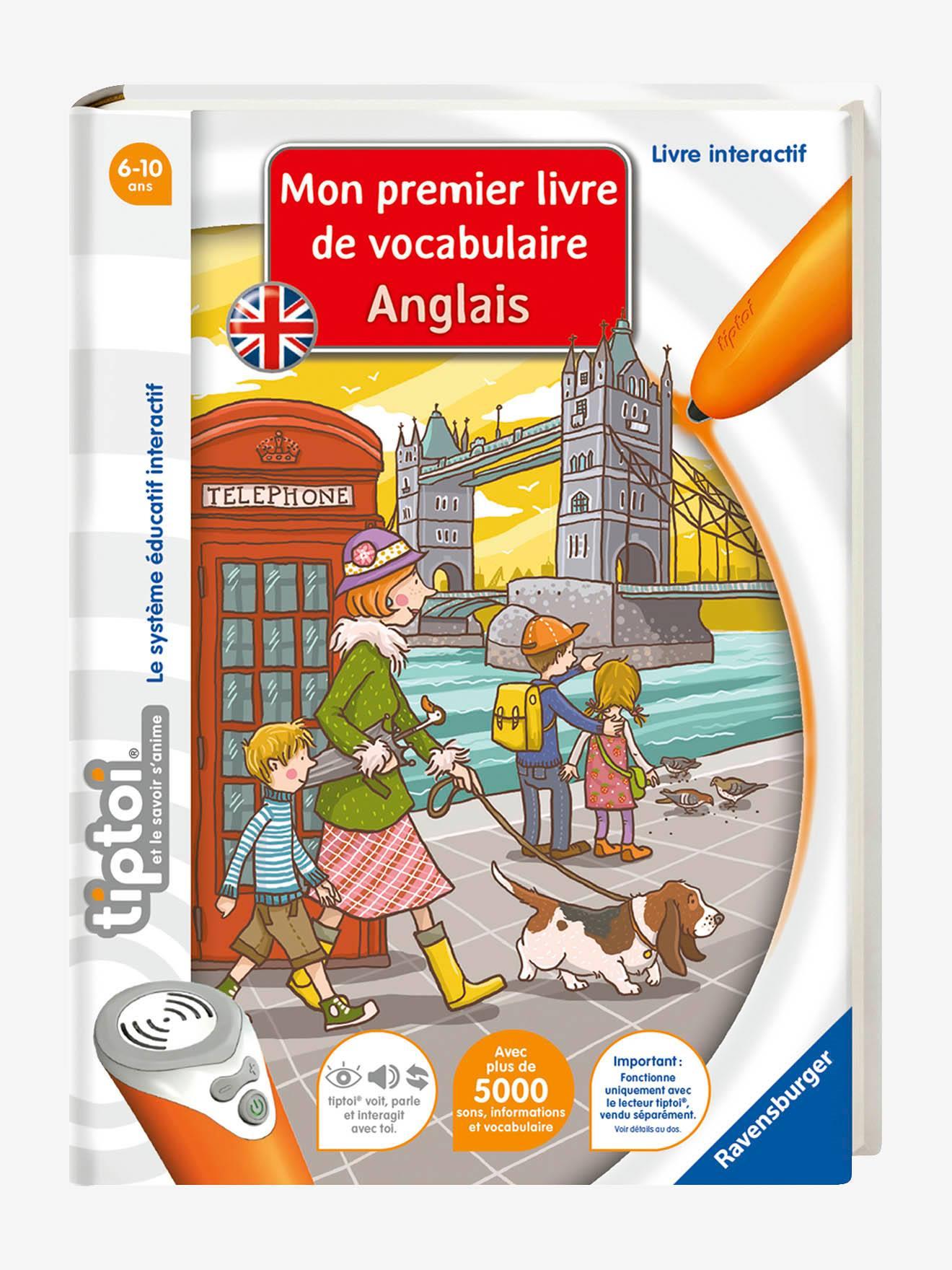 TipToi Mon 1er livre de vocabulaire anglais RAVENSBURGER blanc