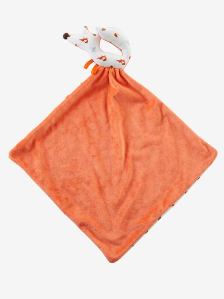 Grand doudou plat et hochet renard Orange 3 - vertbaudet enfant