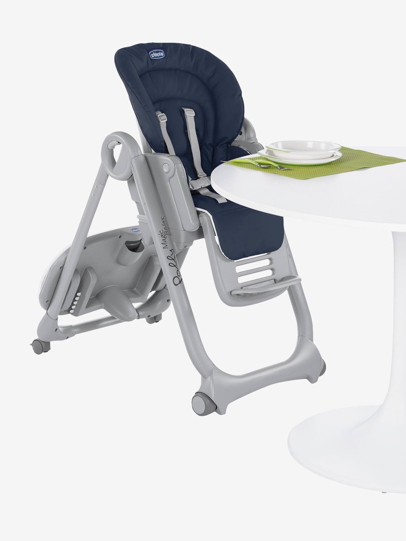 Chaise haute évolutive CHICCO Polly Magic Relax graphite Chicco