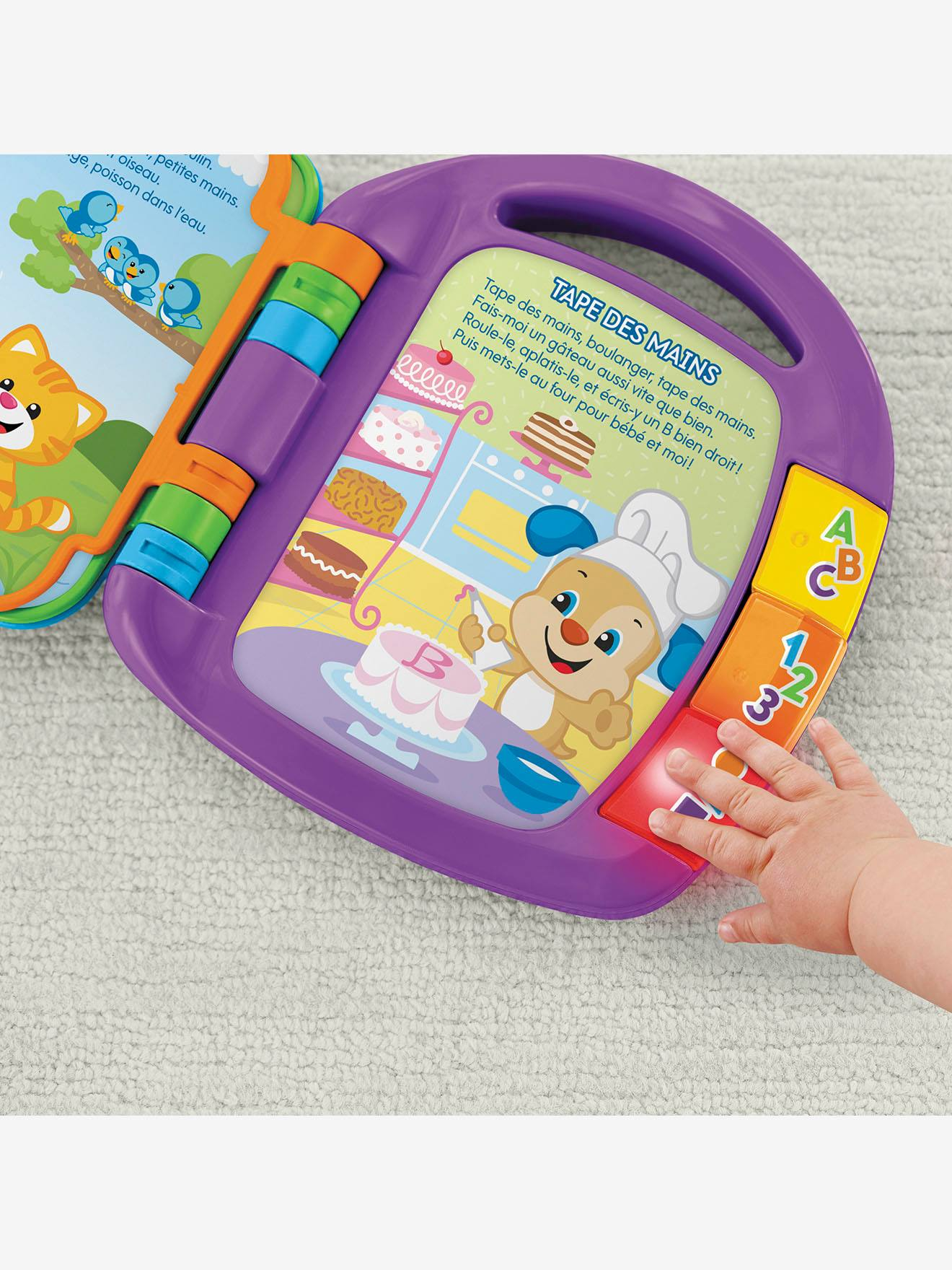 Livre Interactif Comptines Fisher Price Mattel Vert Fisher Price
