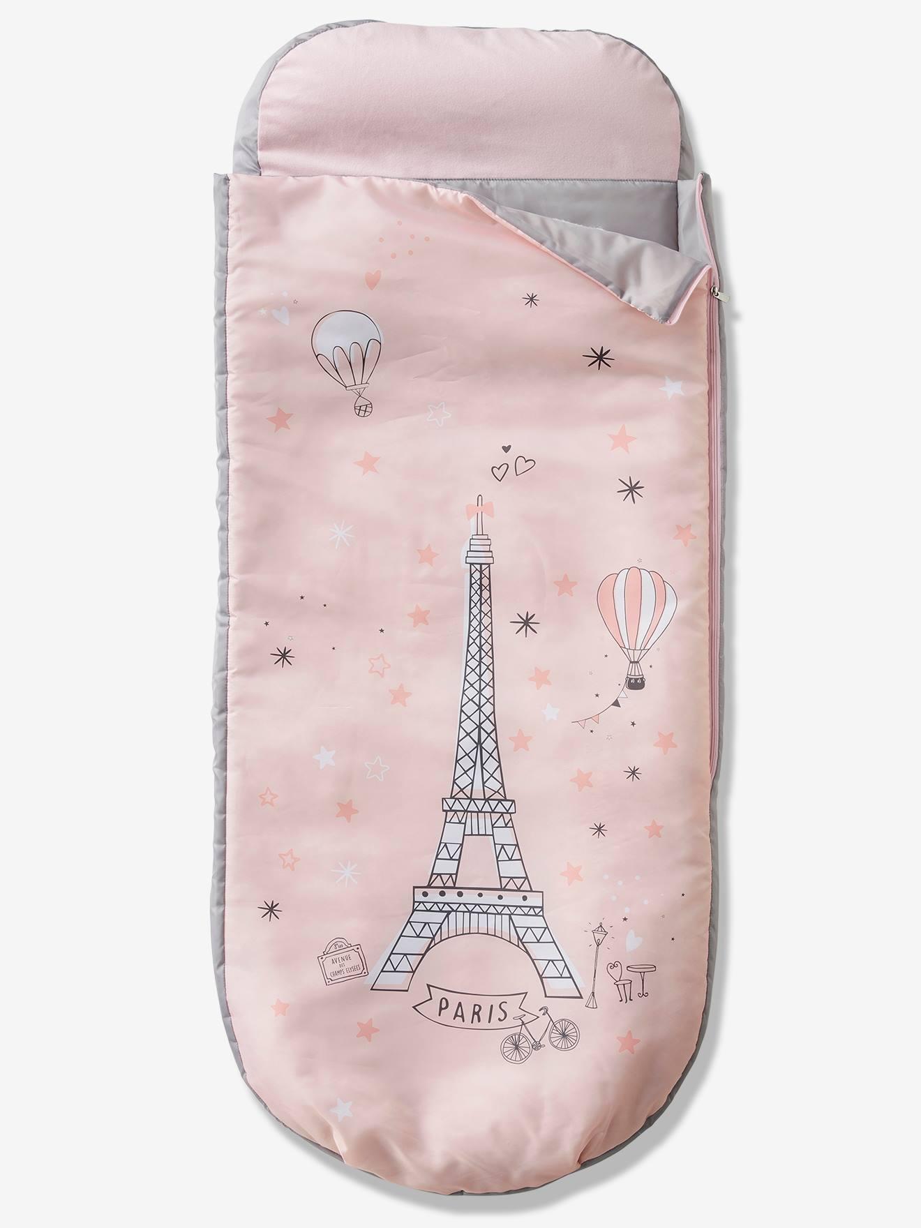 Sac de couchage Readybed® avec matelas intégré PARIS FEERIE rose