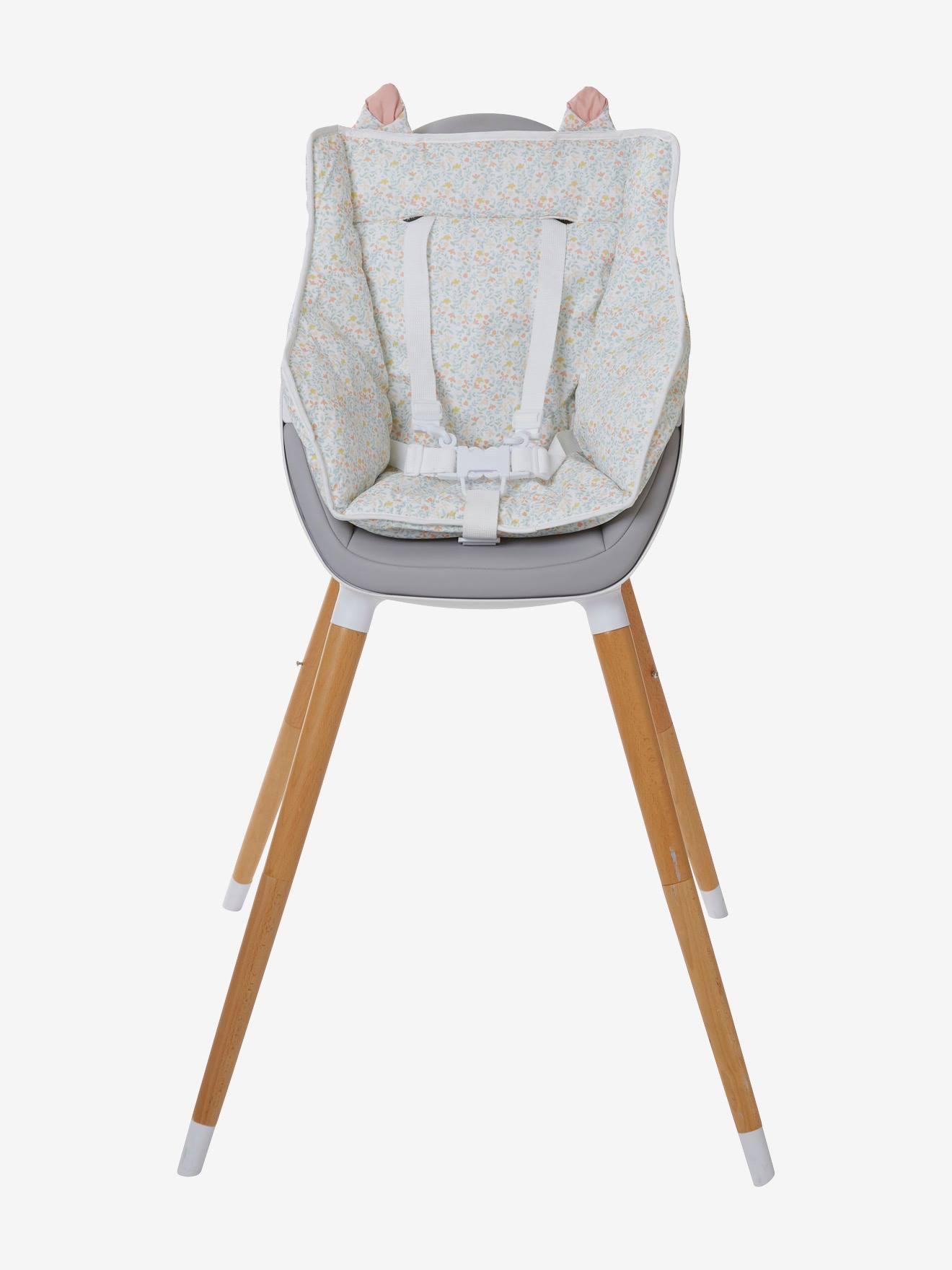 Coussin de chaise haute VERTBAUDET - imprimé fleurs