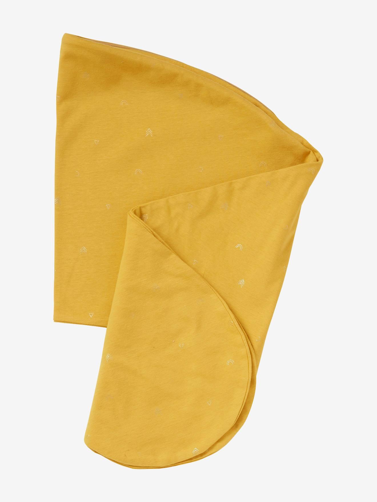 Housse pour coussin d'allaitement jaune épicé
