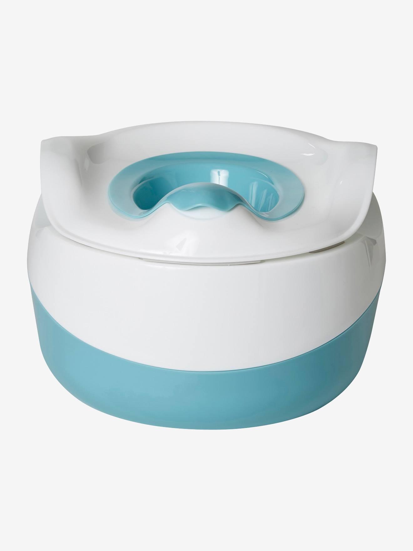 Pot d'hygiène 3 en 1 bleu/blanc