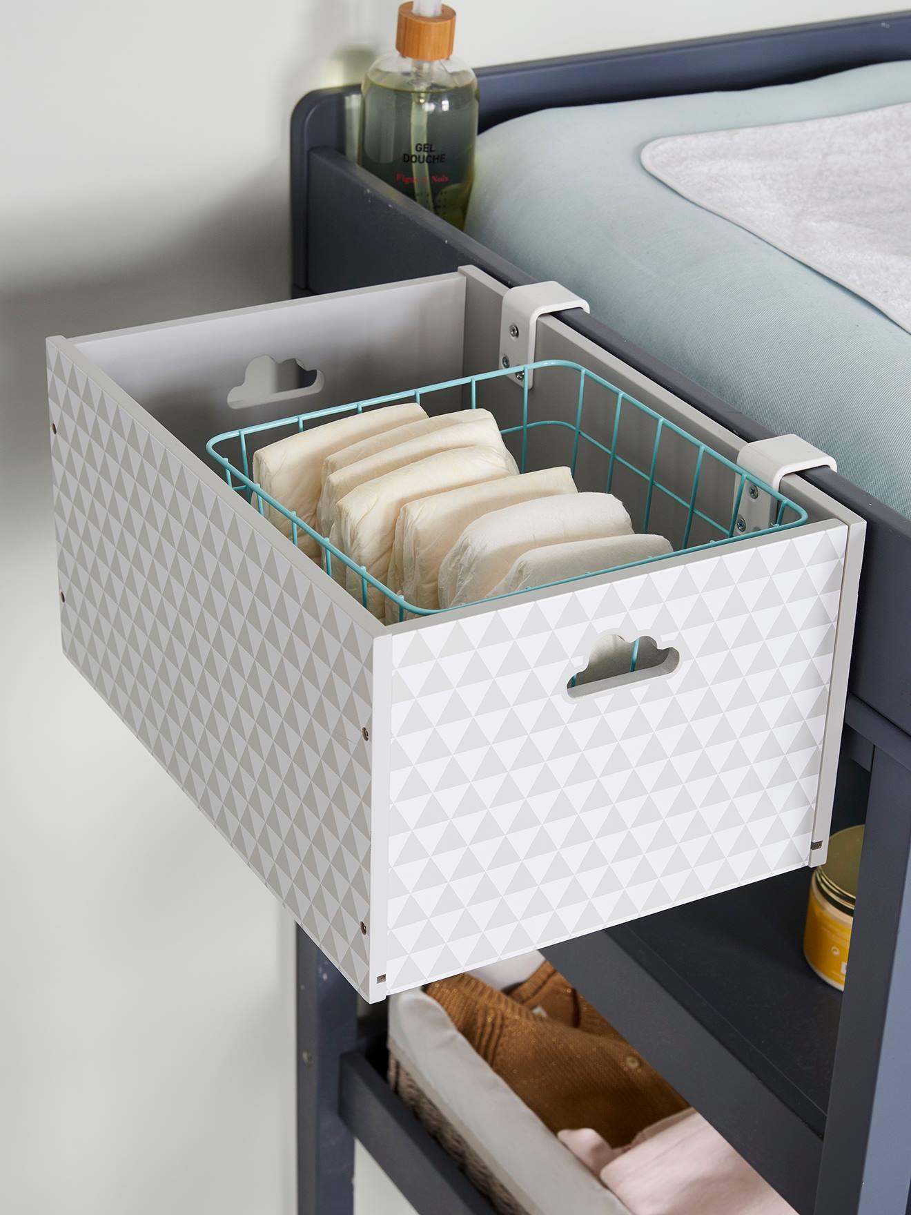 Boite De Rangement Speciale Table A Langer Blanc Vertbaudet