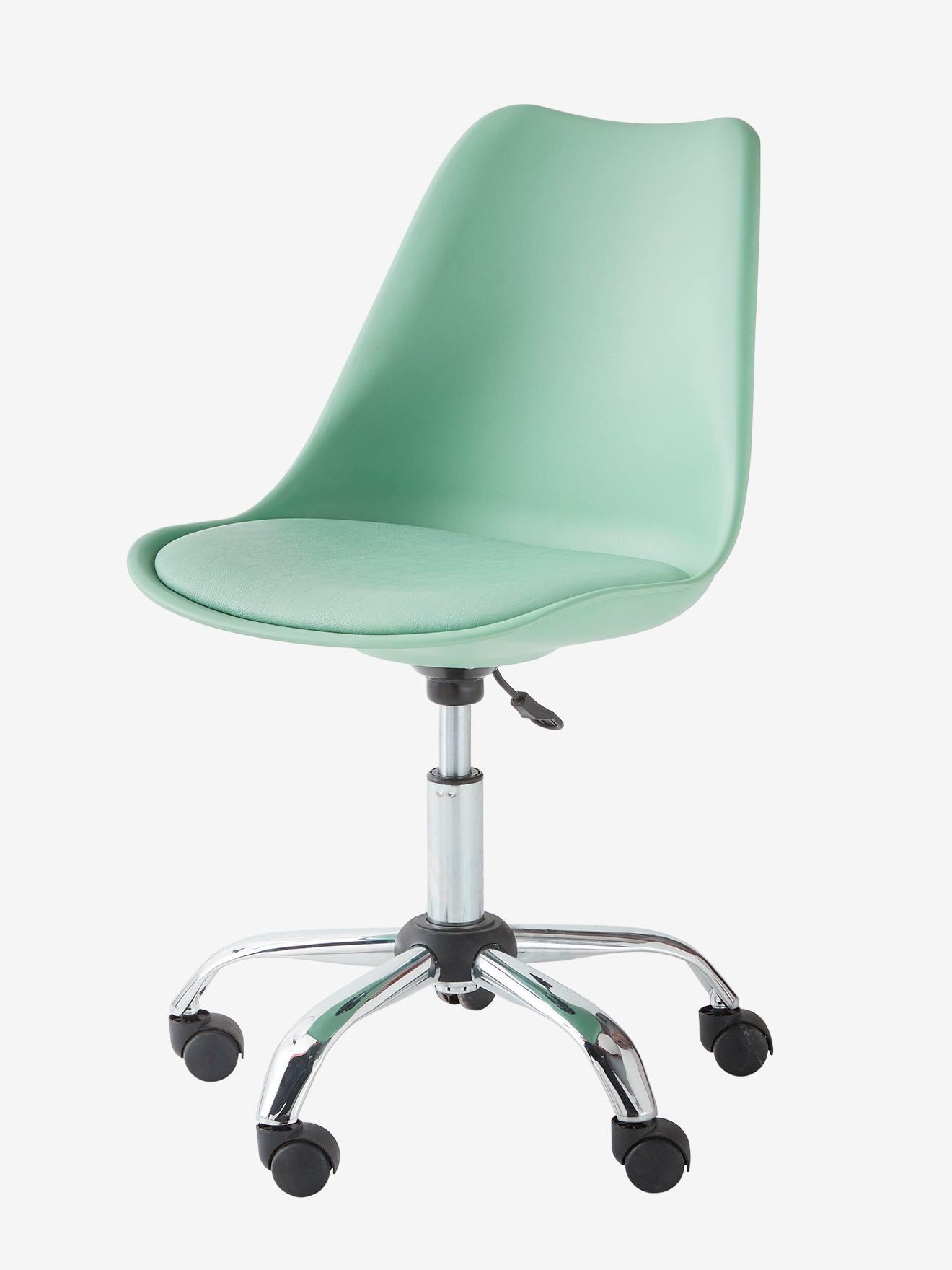 Ma Petite Chaise Nantes chaise de bureau primaire à roulettes vert - vertbaudet