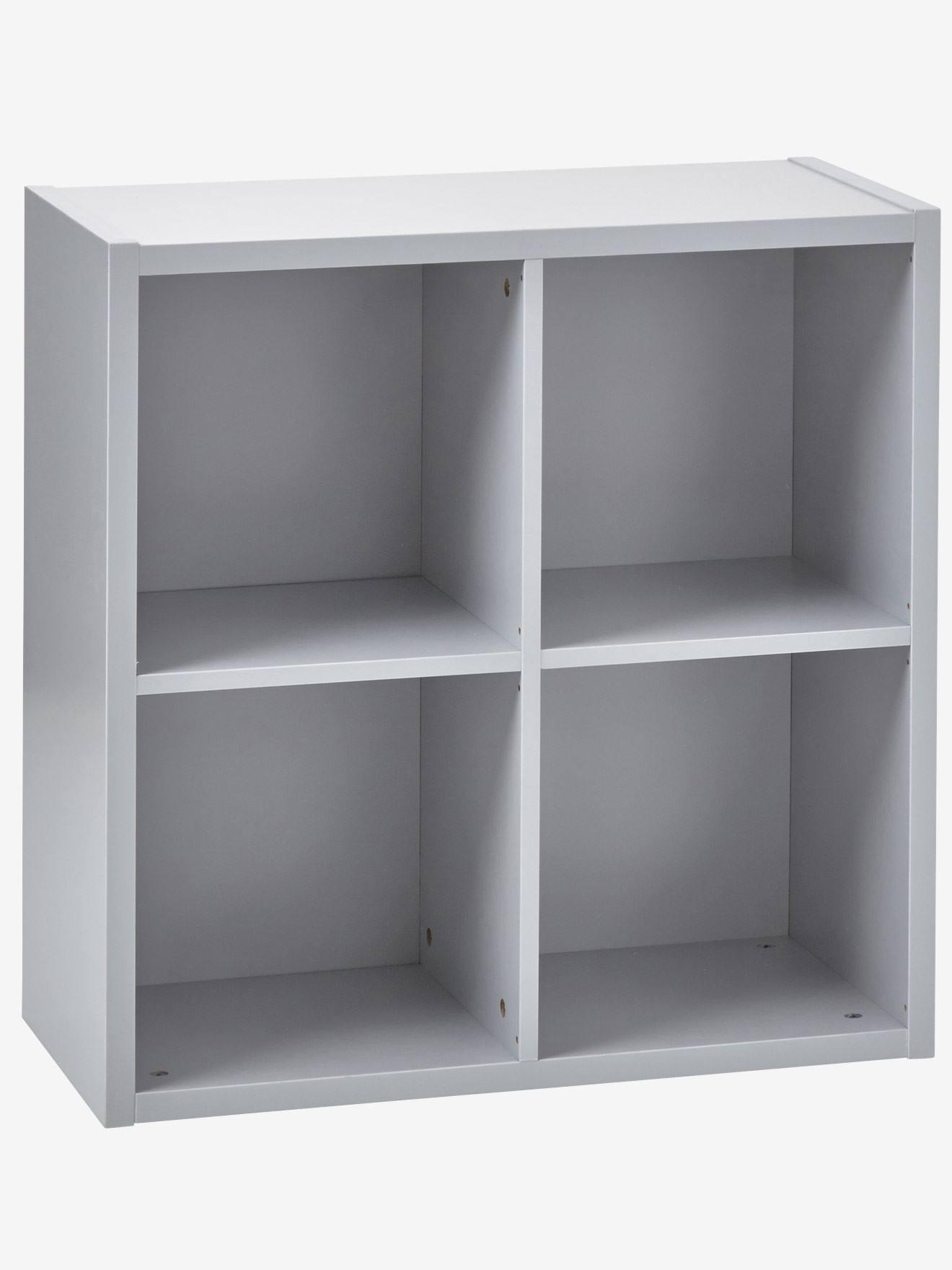 Meuble De Rangement 4 Cases Blanc+Gris 7   Vertbaudet Enfant