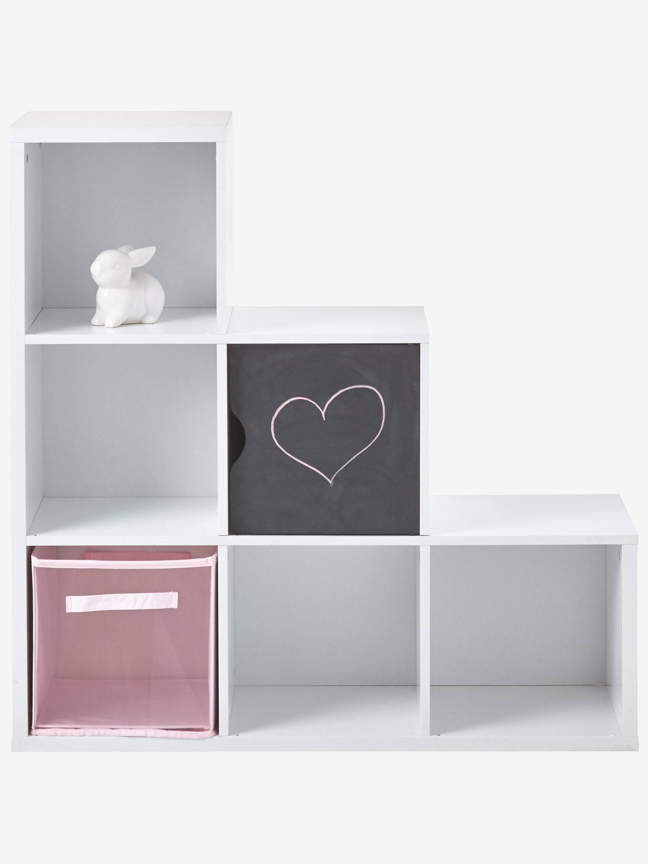 meuble de rangement 6 cases blanc vertbaudet - Meuble De Rangement Chambre